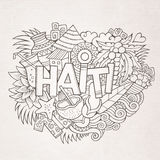Haiti hand lettering and doodles elements and Stock Photography