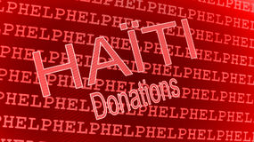 Haiti Help - Donations Royalty Free Stock Photos