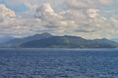 Haiti. The Island of Haiti sits serenly in the Caribean Sea during an afternoon cruise Royalty Free Stock Photo