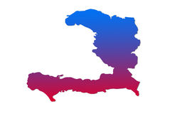 Haiti Map Royalty Free Stock Photography