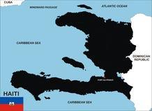 Haiti map Stock Images