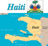Haiti map. Stock Images