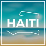 Haiti map rough outline against the backdrop of. Royalty Free Stock Photography