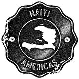Haiti map vintage stamp. Royalty Free Stock Photography
