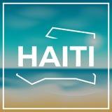 Haiti mapy szorstki kontur przeciw tłu Fotografia Royalty Free
