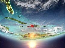 Haiti mit Sonne Lizenzfreies Stockfoto