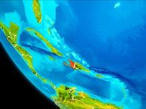 Haiti na terra do espaço Fotos de Stock Royalty Free