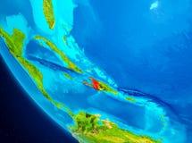 Haiti no globo do espaço Fotos de Stock