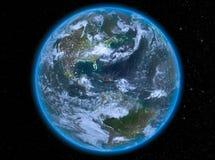 Haiti på natten på jord Royaltyfri Bild