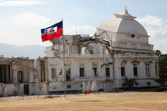 Haiti. Partial view of the Government Palace located in the center of the capital of Haiti Royalty Free Stock Images