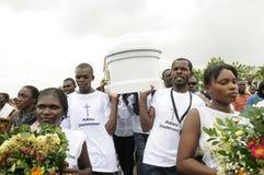 Haiti pogrzeb. zdjęcia royalty free