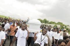 Haiti pogrzeb. obraz stock