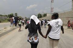 Haiti pogrzeb. Zdjęcia Stock