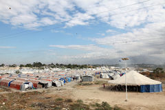 Haiti refugee camps Royalty Free Stock Photo