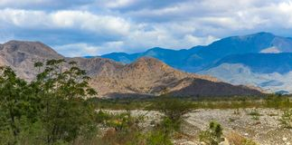 Haiti relief. View on Haiti mountains near Dominican Republic border Stock Image