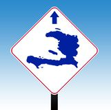 Haiti road sign Stock Photos