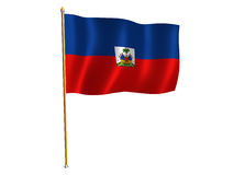 Haiti silk flag. Silk flag of Haiti Stock Images