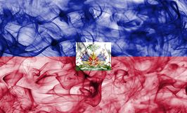 Haiti smoke flag isolated on a white background. Haiti smoke flag isolated on a white background stock photos