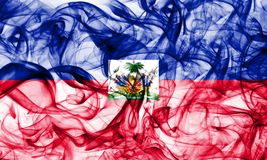 Haiti smoke flag on a white background.  royalty free stock photo