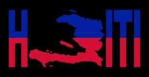 Haiti text with map Royalty Free Stock Photo