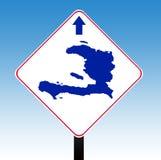 Haiti-Verkehrsschild lizenzfreie abbildung