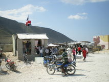 Haitian border. Picture of the haitian border royalty free stock photography