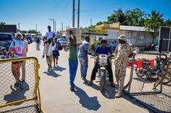 Haitian Border stock images