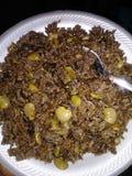 Jon jon rice. Haitian jon jon rice meal royalty free stock images