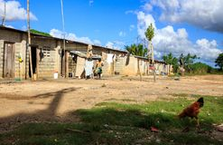 Haitian refugee camp in Dominican Republic Stock Photo