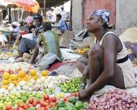 Haitianische Frauen-Straßenhändler Stockbild