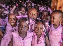 Haitianische Schulkinder lizenzfreie stockfotos