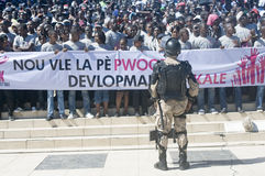 Haitians Demanding Peace Stock Images