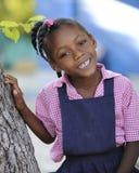 Haitier skolaflicka Arkivbild