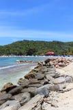 Haitier strand Arkivfoton