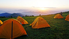 Haituo mountain camping tents Royalty Free Stock Images