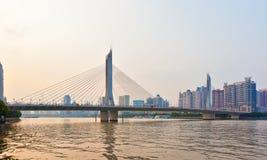 Haiyin bridge at sunset Royalty Free Stock Photos