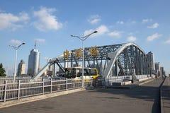 : Haizhu-Brücke Lizenzfreie Stockfotos