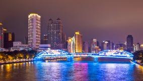 The Haizhu bridge night scenes 2 Stock Photo