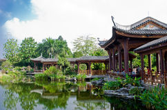 The HaiZhu Wetland Park in Guangzhou. Royalty Free Stock Images