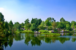 The HaiZhu Wetland Park in Guangzhou. Royalty Free Stock Photo