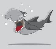 Haj för tecknad filmhammarefisk Stock Illustrationer