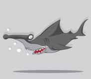 Haj för tecknad filmhammarefisk Vektor Illustrationer