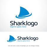 Haj Logo Template Design Vector Royaltyfria Bilder