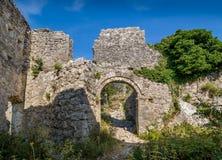 Haj-Nehaj medeltida fästning Arkivbilder
