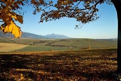 Haj - Nicovo near Liptovsky Mikulas. View from the Haj - Nicovo on the surrounding country with background Krivan peak Royalty Free Stock Image