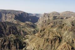 hajar βουνά Ομάν δυτικό στοκ φωτογραφίες