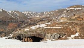 hajar βουνό του Λιβάνου jisr EL στοκ φωτογραφία με δικαίωμα ελεύθερης χρήσης