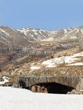 hajar βουνό του Λιβάνου jisr EL στοκ εικόνες