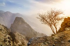 Hajar Mountains of Ras Al Khaimah stock image