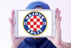 Hajduka futbolu klubu Rozszczepiony logo Zdjęcia Stock